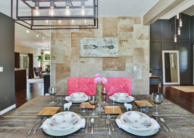 stone dining room tiles