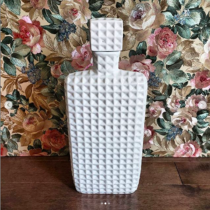 white bottle decor