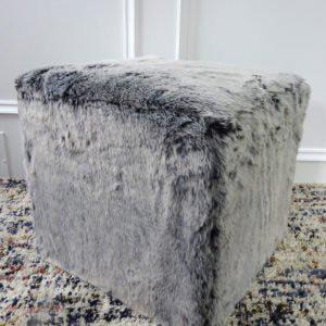 faux fur ottoman cube