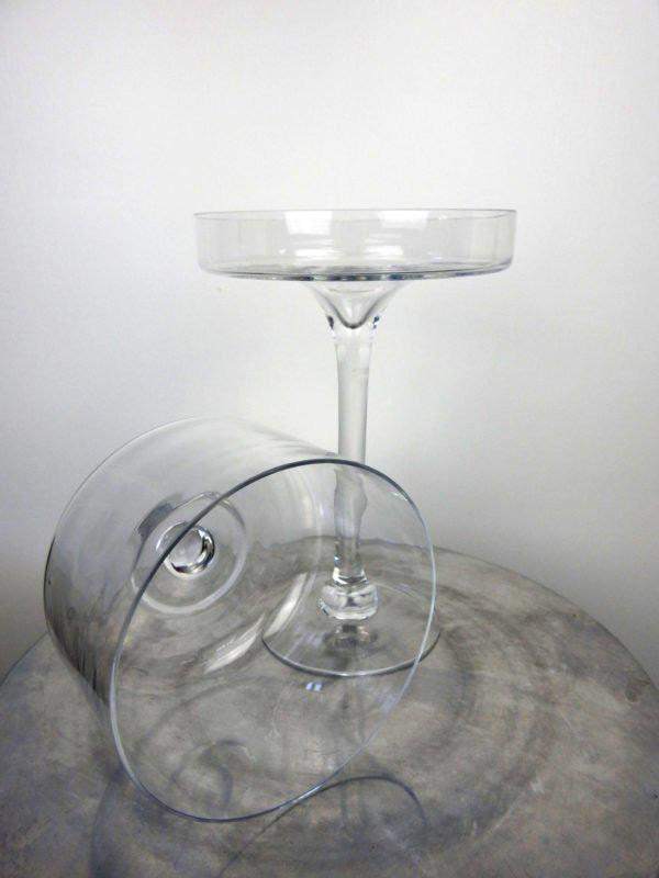 Glass cupcake Pedestal Stand inside