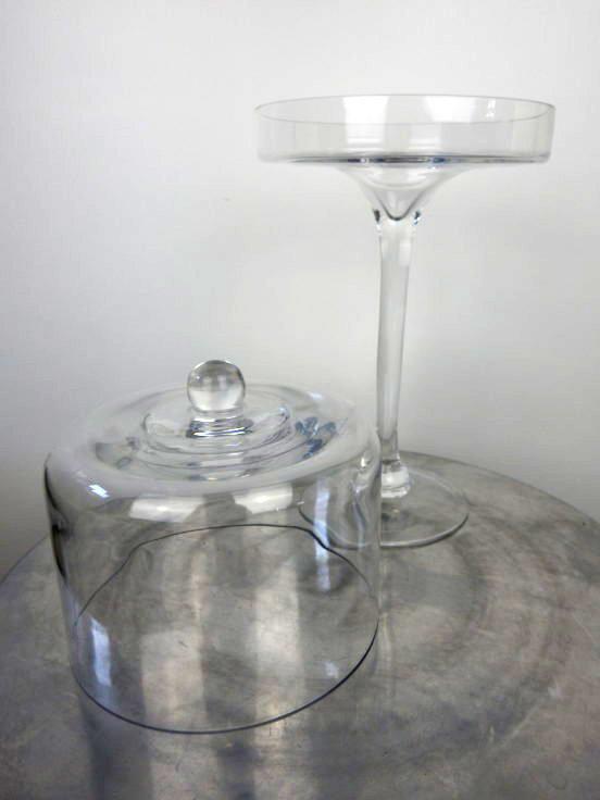 Glass cupcake Pedestal Stand open