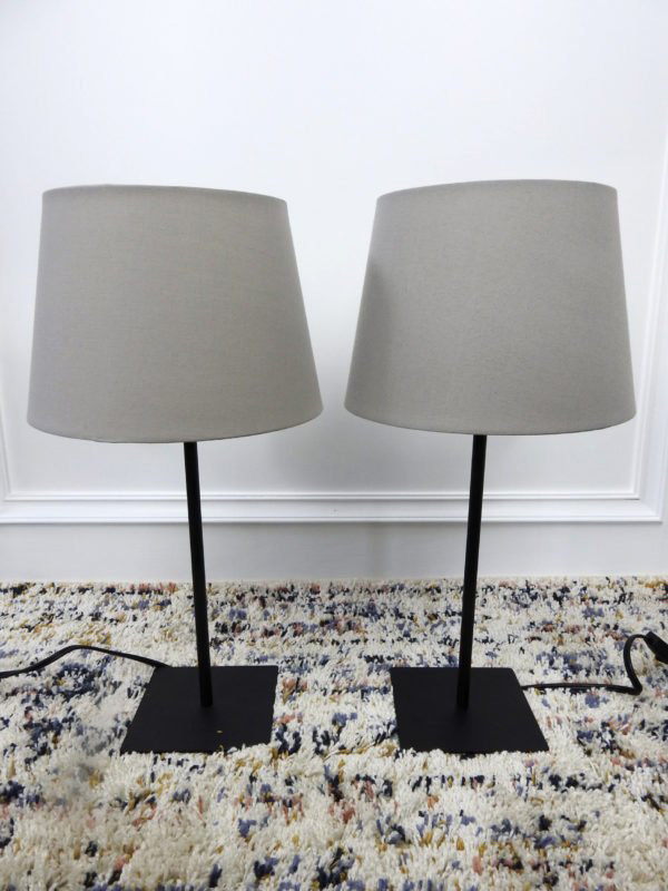 grey table lamps