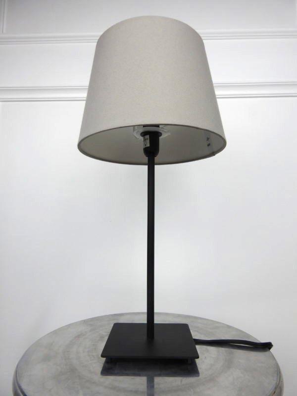 simple grey lamp