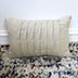 Beige Ruffled Throw Pillow