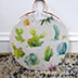 Cactus Rose Gold Serving Tray