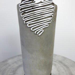 Cement Heart Vase