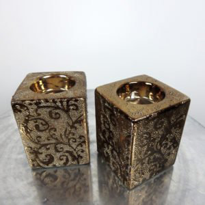 Ornate Cube Candle Holders