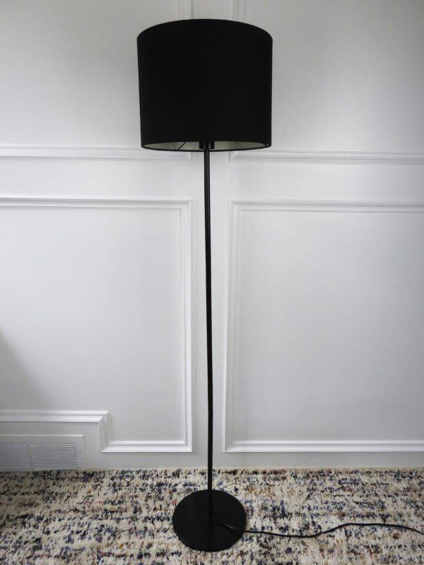 black ikea floor lamp off