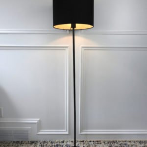black ikea floor lamp on