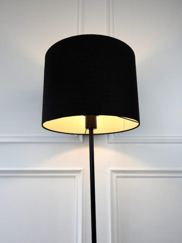 black lamp shade