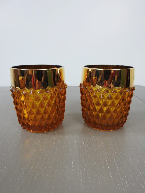 carnival glass cups