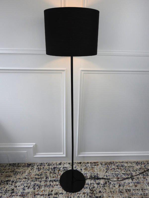 simple black shade floor lamp