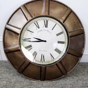 Bronze large rustic clock