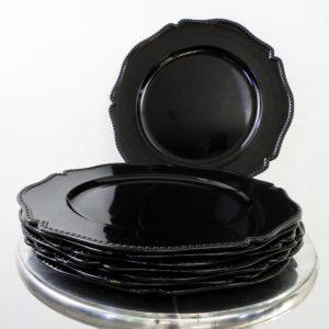 black decorative chargers