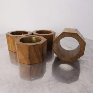 wooden nut napkin rings