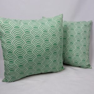 Aqua fan decorative pillow