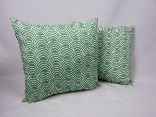 Aqua fan decorative pillow