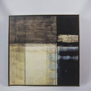 Beige and Black Color Blocked Art