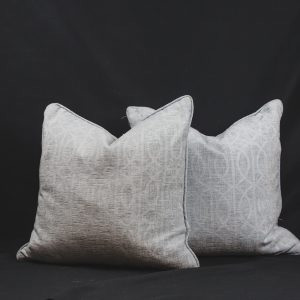 Blue and White Square Throw Pillow