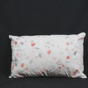 White with Red and Black Shapes Pillow